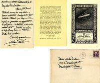 Helen Pearson letter to Helen Patricia (Patsy) Wilson exchanging bookplates.