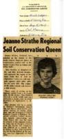 Jeanne Strathe regional soil conservation queen.