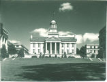 Old Capitol and terrace on the west side, The University of Iowa, 1940s