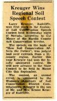 Kreguer wins Soil Speech contest.