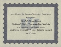 Soil Judging Contest Award - 2012.