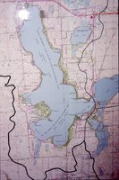Map of West Lake Okoboji.