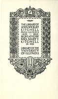 University of Illinois Library of John Wickliff Kitchell Bookplate