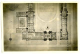 A.H. Kimball's architectural drawing of proposed first floor of State Gymnasium
