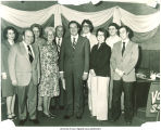 Mary Louise Smith with political group, Iowa, 1970s