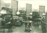 Library reading room in Schaeffer Hall, The University of Iowa, 1930