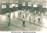 Four court volleyball, The University of Iowa, 1940s