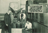 Prof. Homer Dill with museum studies class, The University of Iowa, 1928