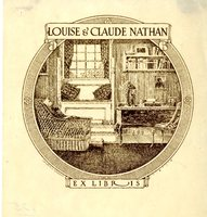 Louise and Claude Nathan Bookplate