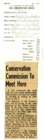 Conservation commission to meet.
