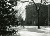 View of the north side of the library, 1949