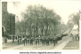 Procession into old Armory on Inauguration Day, The University of Iowa, May 12, 1917