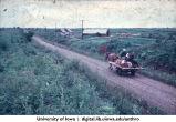 "Riding a wagon, Yamagishi Kai ""Pioneer Farm"", Hokkaido, August 1965"