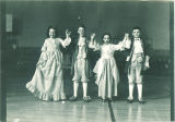 School children performing minuet, The University of Iowa, March 4, 1949