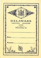 Delaware Chapters, State of Delaware Bookplate