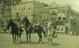 Oskaloosa Policemen on Horseback, Circa 1910