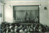School children performing on stage, The University of Iowa elementary school, February 1929