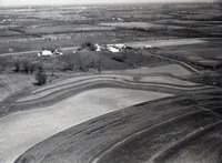 Unidentified Aerial Views of Farmland in Davis County, Iowa
