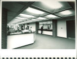 Public service and information desks at Main Library, the University of Iowa, 1972