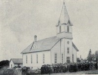 St. Peter Lutheran Church in Garnavillo, Iowa -1890s
