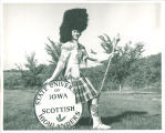 Scottish Highlanders drum major Carolyn Rabe, The University of Iowa, 1962