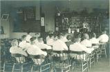 Pharmacy classroom, The University of Iowa, 1910s