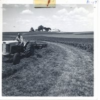 Strip cropping on Lester Moeller's farm, 1963