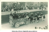 Marshalltown, Iowa orchestra in parade, The University of Iowa, 1910s