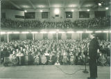 Lecture in the auditorium in Macbride Hall, the University of Iowa, 1950s
