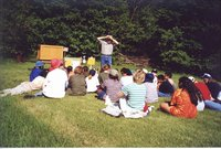 Outdoor classroom with Chester Worden
