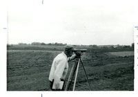 Surveyor Taking Field Measurements, 1972
