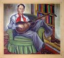 The dean strums his guitar