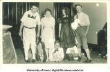 Students posed in costume, The University of Iowa, 1950s?