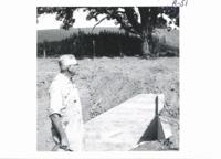 Concrete dam on Carl Engel farm, 1967