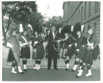 Scottish Highlanders with Iowa Congressman Fred Schwengel, Washington, D.C., 1964