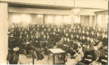 Lecture hall filled to capacity, The University of Iowa, 1920