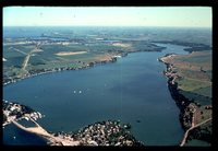 Aerial View of East Lake Okoboji.