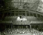 Crowning of Queen, Cathy Olson, Homecoming 1957