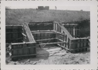 Drop spillway, adjustable forms on the Brown farm.