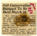 Soil Conservation banquet March 10, 1958.