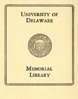 University of Delaware, Memorial Library Bookplate