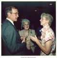 Vice president George Bush with Mary Louise Smith, center, at reception, Washington, D.C., September 1985