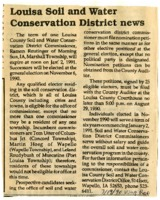 Louisa Soil and Water Conservation News