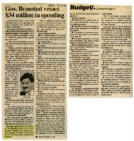 Governor Vetoes Spending