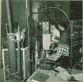 Engineering students in a mechanical engineering laboratory, The University of Iowa, 1940s