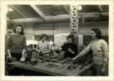 Four cadettes holding sheet metal tools, 1943