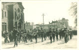 Marching band in Mecca Day parade, the University of Iowa, 1917