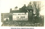 Wagon in Mecca Day parade, The University of Iowa, 1915