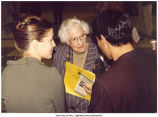 Louise Noun with Catherine Rymph and Charles Hawley at the Uses of Suffrage Conference, University of Iowa, Iowa City, Iowa, September 1996