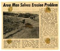 Area man solves erosion problem.